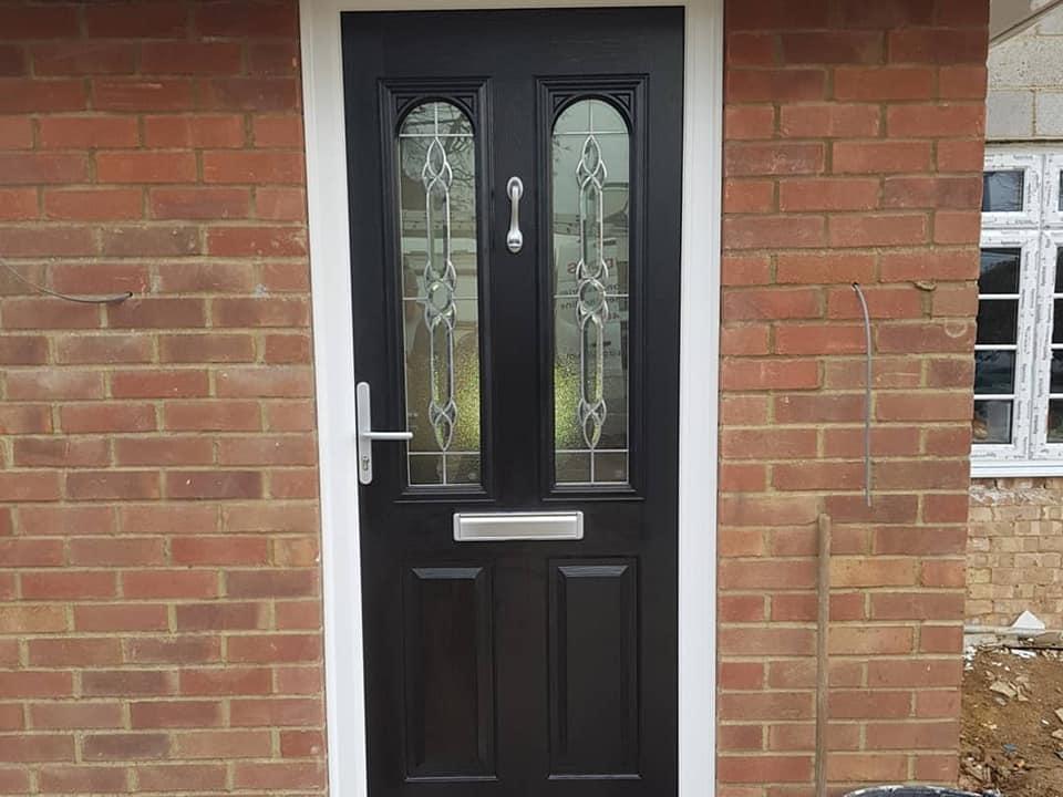 black solidor front door